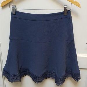 NWOT Ann Taylor blue crepe trumpet skirt